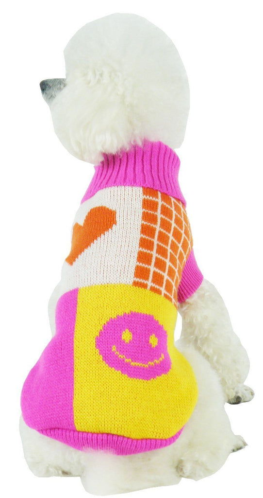 Pet Life ® 'Lovable-Bark' Heavy Knitted Ribbed Fashion Designer Dog Sweater X-Small