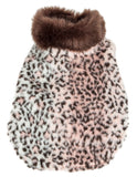 Pet Life ®  Luxe 'Furracious' Cheetah Patterned Mink Dog Coat Jacket