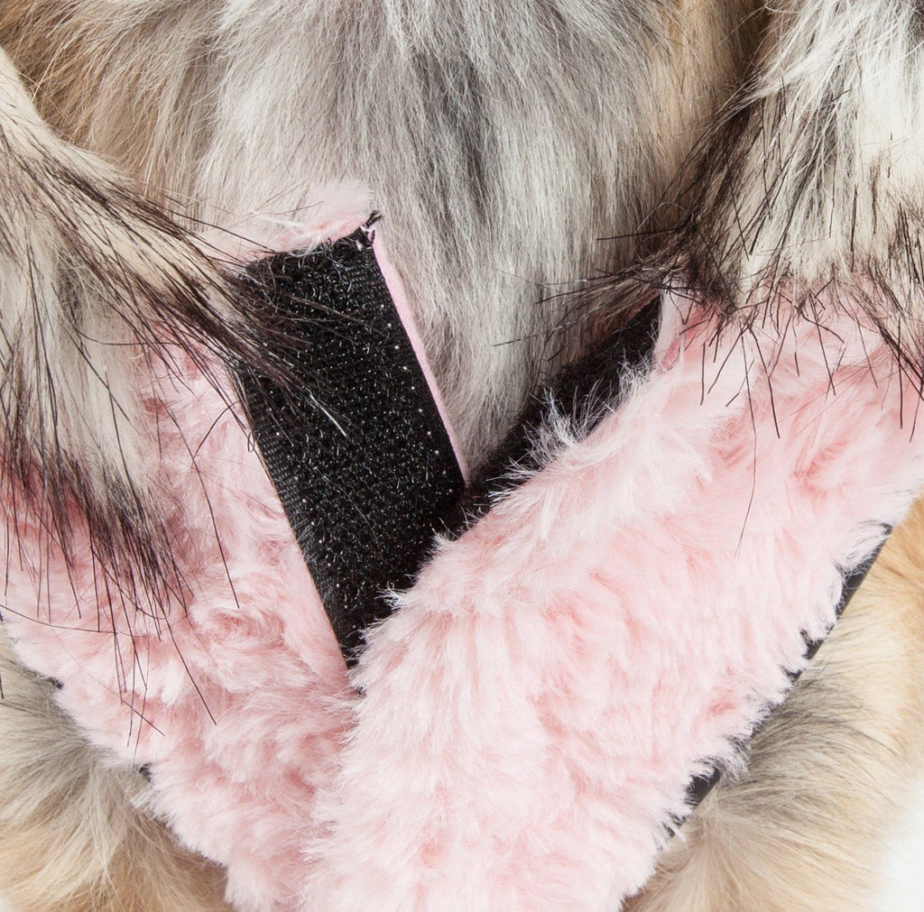 Pet Life ®  Luxe 'Pinkachew' Charming Designer Mink Fur Dog Coat Jacket