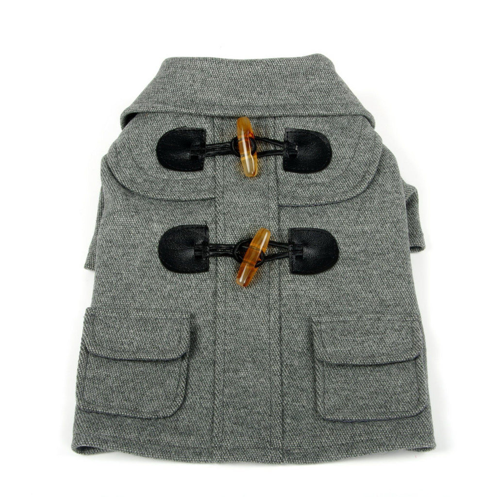Pet Life ® 'Military Static' Rivited Fashion Collared Wool Dog Jacket Coat