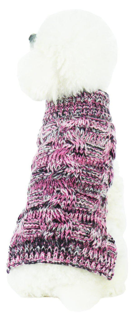 Pet Life ® 'Royal Bark' Heavy Cable Knitted Designer Fashion Dog Sweater