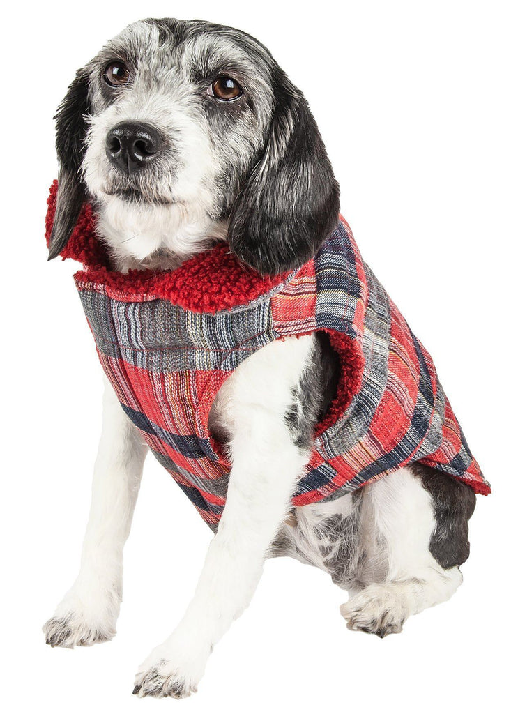 Pet Life ®  'Scotty' Tartan Classical Plaided Insulated Dog Coat Jacket