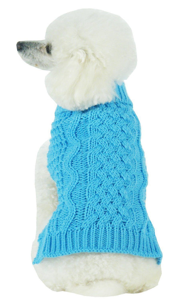 Pet Life ® 'Swivel-Swirl' Heavy Cable Knitted Fashion Designer Dog Sweater