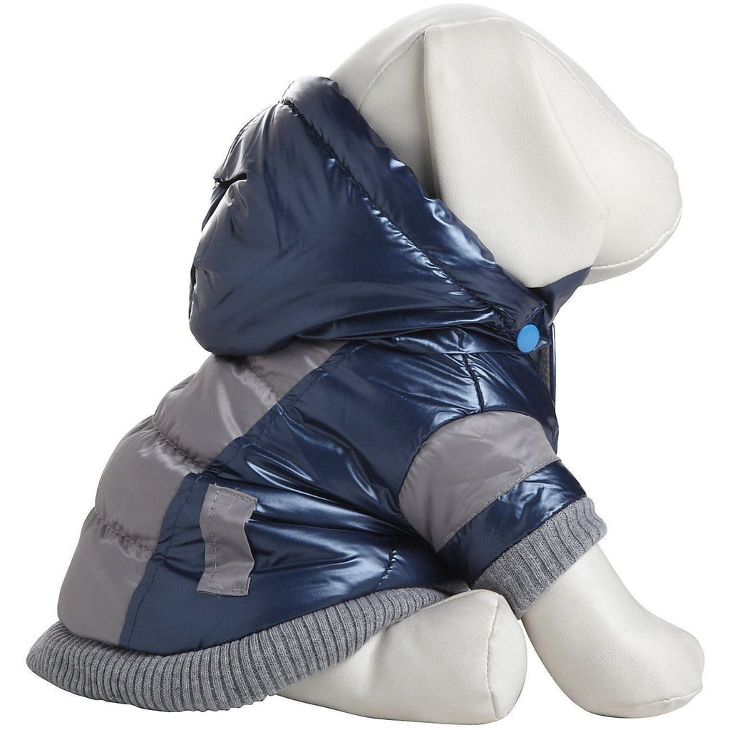 Pet Life ® 'Vintage Aspen' 3M Insulated Sporty Ski Dog Jacket w/ Removable Hood X-Small Blue