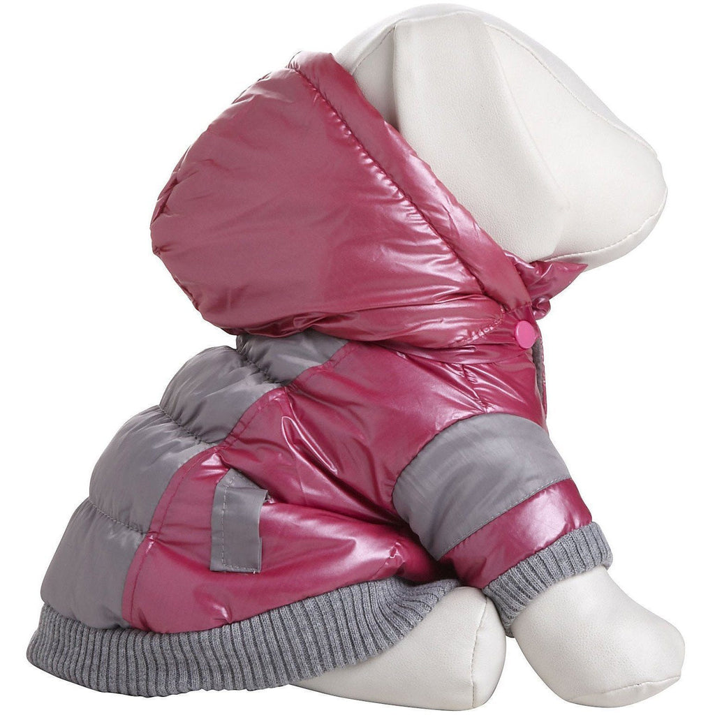 Pet Life ® 'Vintage Aspen' 3M Insulated Sporty Ski Dog Jacket w/ Removable Hood X-Small Pink