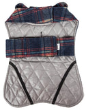 Touchdog ® 2-In-1 Tartan Plaided Dog Jacket With Matching Reversible Dog Mat