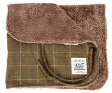 Touchdog ® 2-In-1 Windowpane Plaided Dog Jacket With Matching Reversible Dog Mat