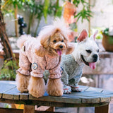 Touchdog ® Fashion Designer Full Body Quilted Pet Dog Hooded Sweater
