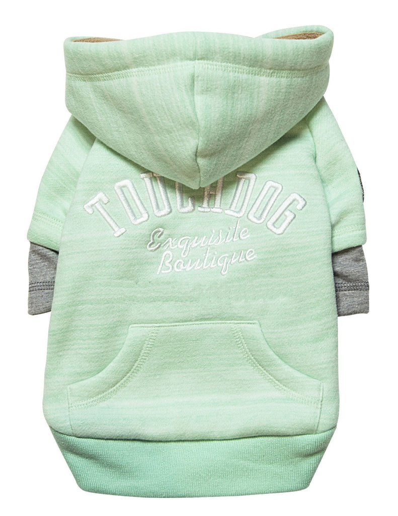 Touchdog ® Hampton Beach Designer Ultra Soft Sand-Blasted Cotton Dog Hoodie Sweater X-Small Green