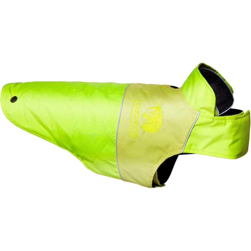 Touchdog ® Lightening-Shield Waterproof 2-in-1 Convertible Dog Jacket w/ Blackshark technology X-Small Sun Yellow, Gold