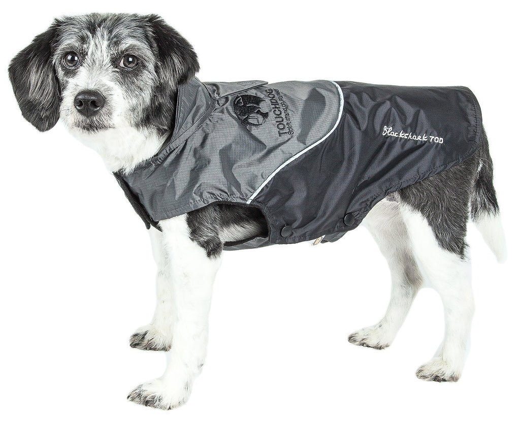 Touchdog ® Lightening-Shield Waterproof 2-in-1 Convertible Dog Jacket w/ Blackshark technology