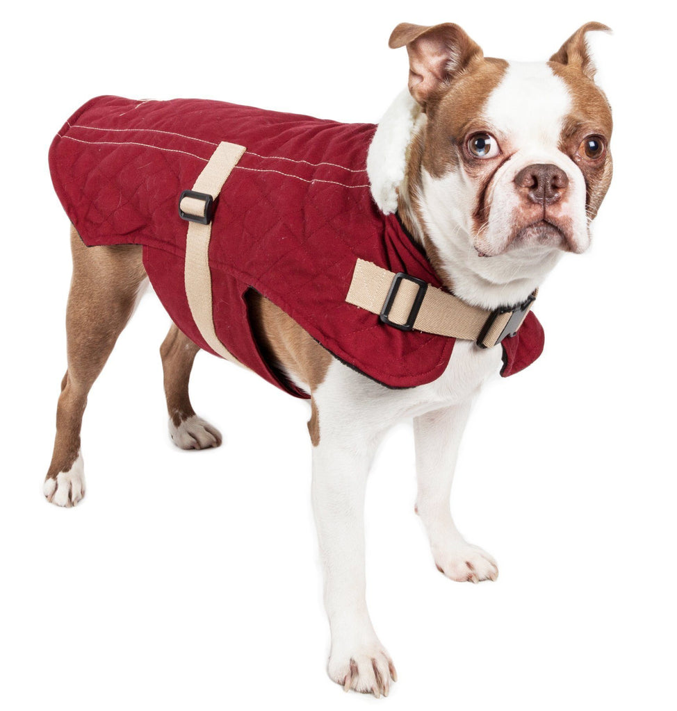 Touchdog ® Original Sherpa-Bark Designer Fashion-Forward Dog Coat