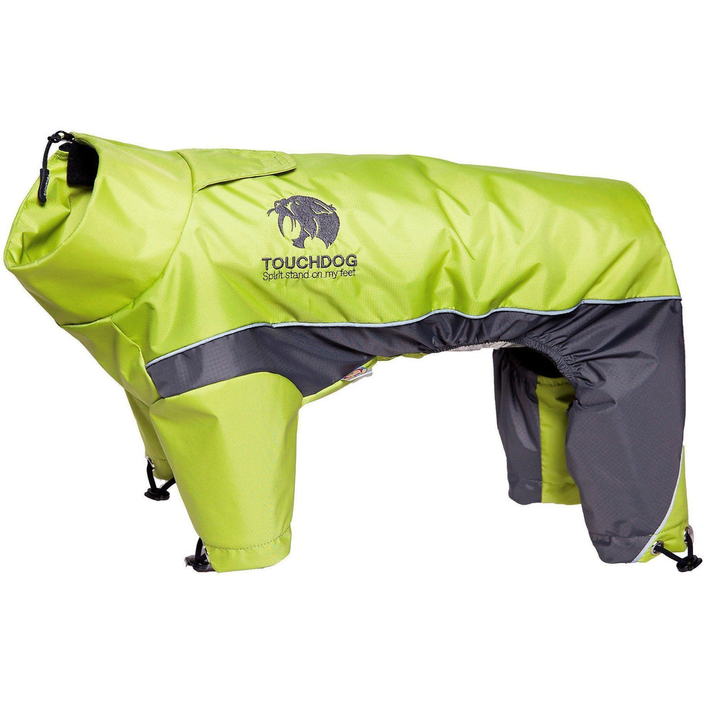 Touchdog ® Quantum-Ice Full-Bodied Adjustable and 3M Reflective Dog Jacket w/ Blackshark Technology X-Small Light Yellow, Grey