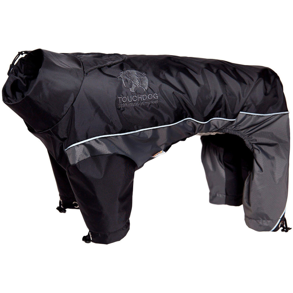 Touchdog ® Quantum-Ice Full-Bodied Adjustable and 3M Reflective Dog Jacket w/ Blackshark Technology X-Small Black, Grey