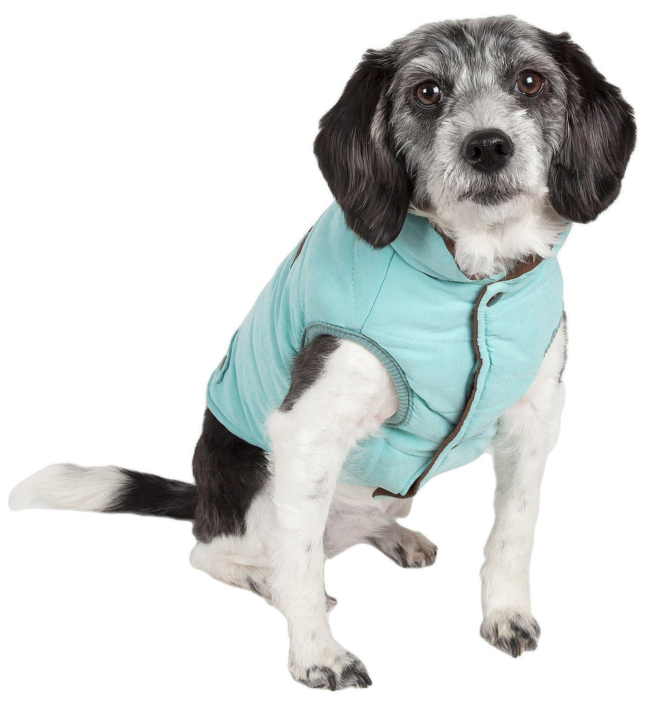 Touchdog ® Waggin Swag Ultra-Plush Reversible and Insulated Dog Coat