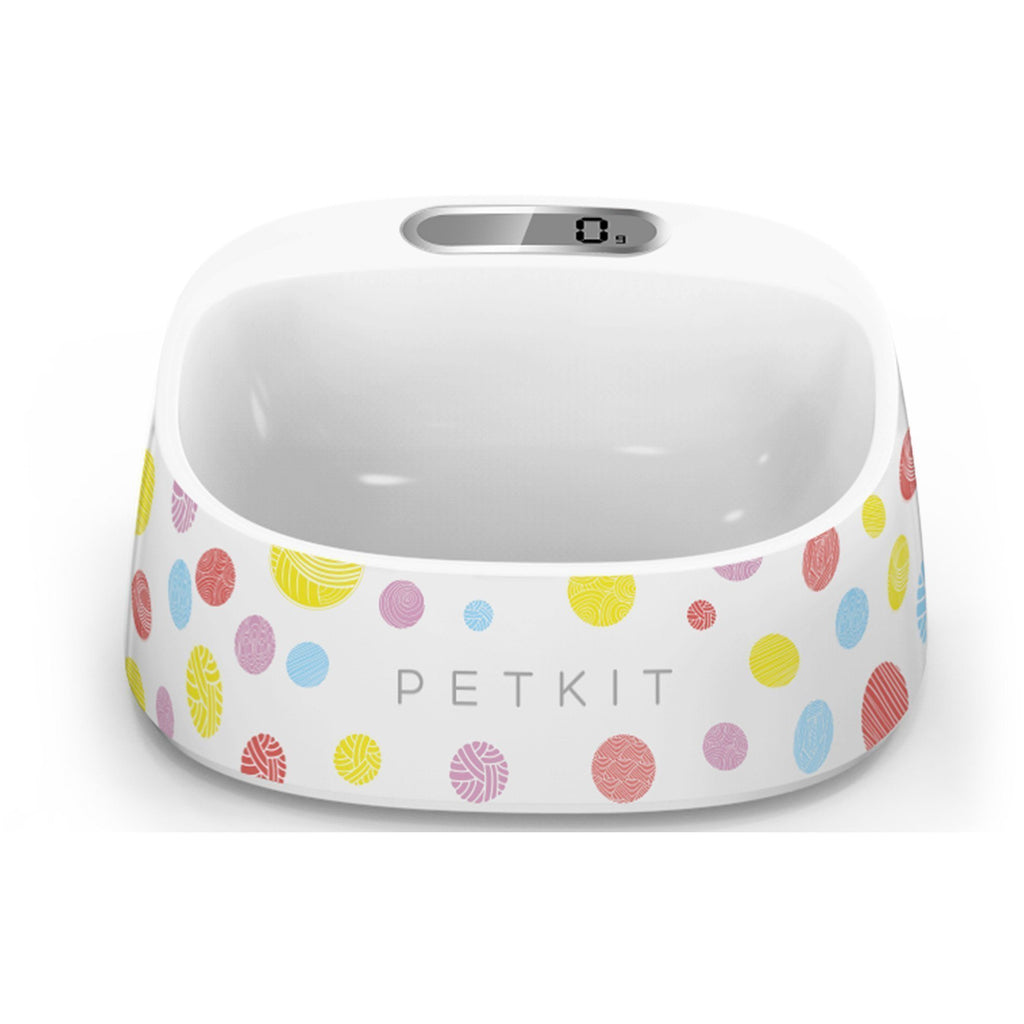 PETKIT ® 'FRESH' Anti-Bacterial Waterproof Smart Food Weight Calculating Digital Scale Pet Cat Dog Bowl Feeder w/ Inlcuded Batteries Rainbow Dotted