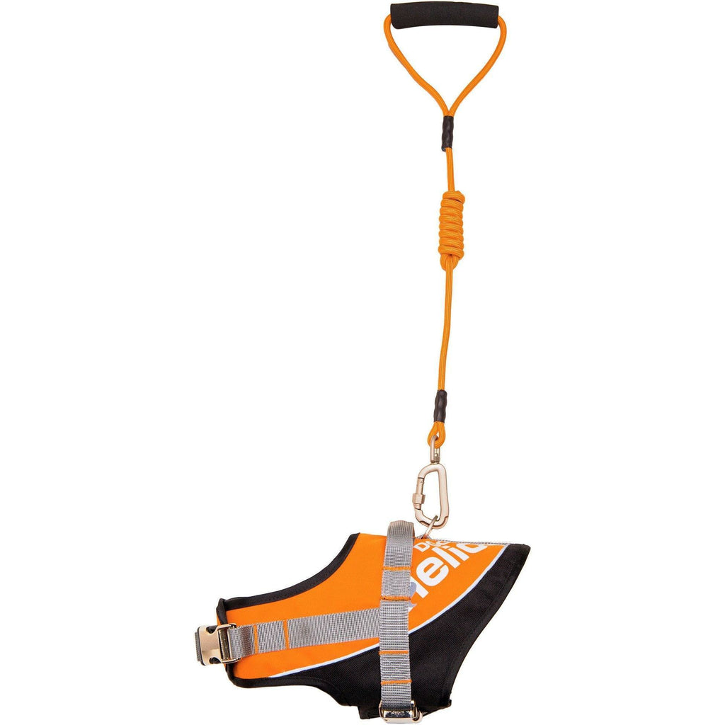 Dog Helios ® 'Bark-Mudder' Easy Tension 3M Reflective Endurance 2-in-1 Adjustable Pet Dog Leash and Harness Small Orange