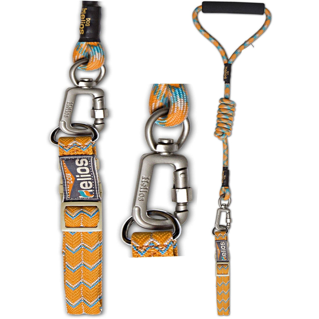 Dog Helios ® 'Dura-Tough' Easy Tension 3M Reflective Adjustable Multi-swivel Pet Dog Leash and Collar