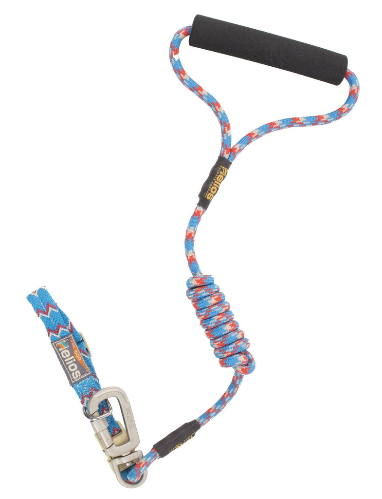 Dog Helios ® 'Dura-Tough' Easy Tension 3M Reflective Adjustable Multi-swivel Pet Dog Leash and Collar Small Blue