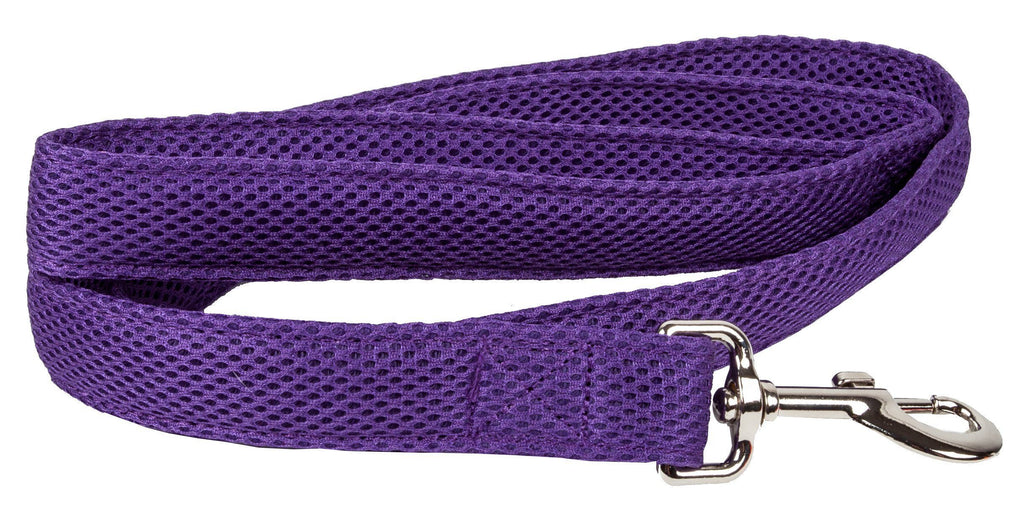 Pet Life ®  'Aero Mesh' Dual Sided Comfortable And Breathable Adjustable Mesh Dog Leash Purple