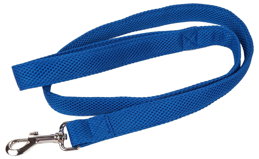 Pet Life ®  'Aero Mesh' Dual Sided Comfortable And Breathable Adjustable Mesh Dog Leash Blue