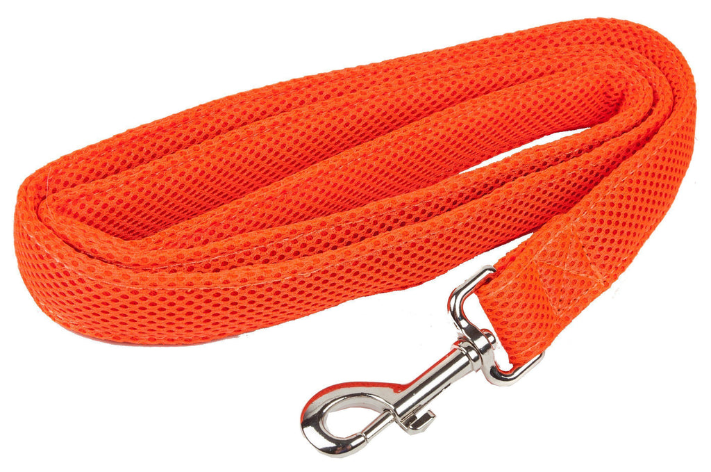 Pet Life ®  'Aero Mesh' Dual Sided Comfortable And Breathable Adjustable Mesh Dog Leash Orange