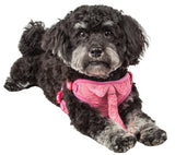 Pet Life ®  'Chichi Shaggy' Mesh Reversible And Breathable Adjustable Dog Harness W/ Shaggy Neck Tie