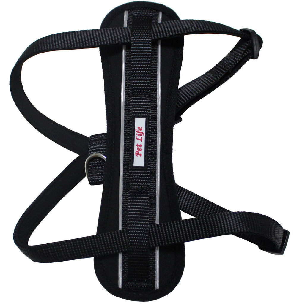Pet Life ® 'Mountaineer' Chest Compressive Adjustable and Reflective Easy Pull Pet Dog Harness