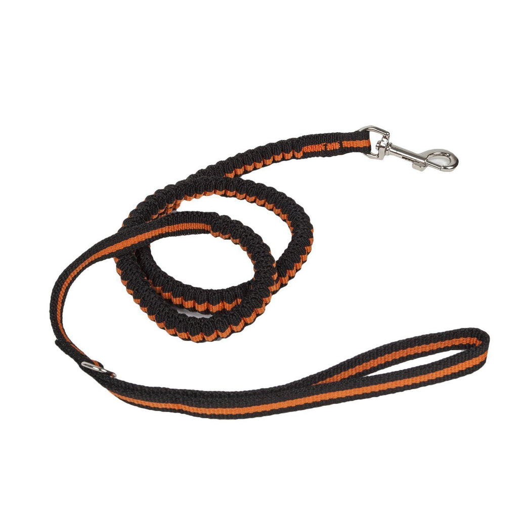 Pet Life ® 'Retract-A-Wag' Shock Absorption Stitched Durable Pet Dog Leash Orange