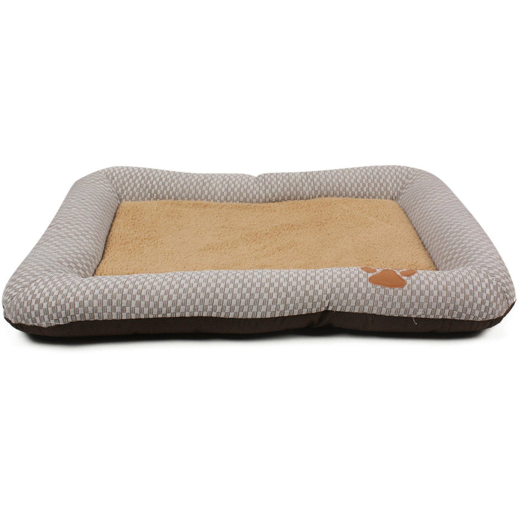 Pet Life ® 'Neutral Carpentry' Fashion Designer Nano-Silver Anit-Bacterial Pet Dog Bed Lounge Default Title