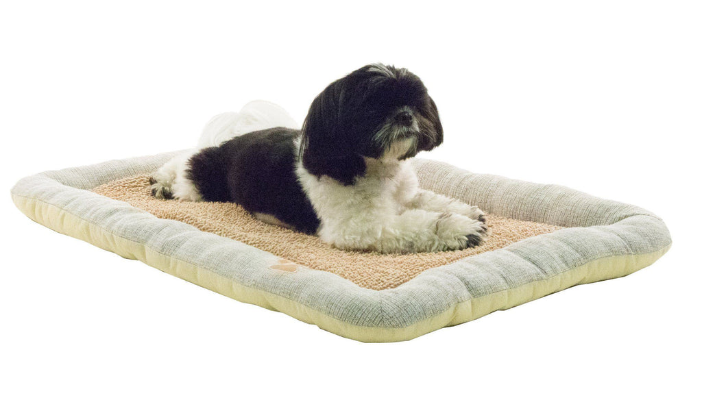 Pet Life ® 'Neutral Carpentry' Fashion Designer Nano-Silver Anit-Bacterial Pet Dog Bed Lounge