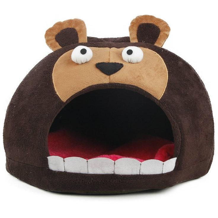 Pet Life ® 'Roar Bear' Snuggle Plush Polar Fleece Fashion Designer Pet Dog Bed House Lounge Dark Brown