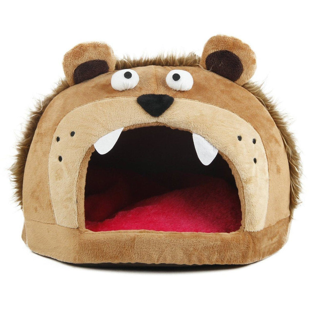 Pet Life ® 'Roar Bear' Snuggle Plush Polar Fleece Fashion Designer Pet Dog Bed House Lounge Light Brown