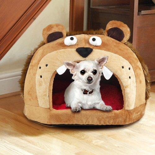 Pet Life ® 'Roar Bear' Snuggle Plush Polar Fleece Fashion Designer Pet Dog Bed House Lounge
