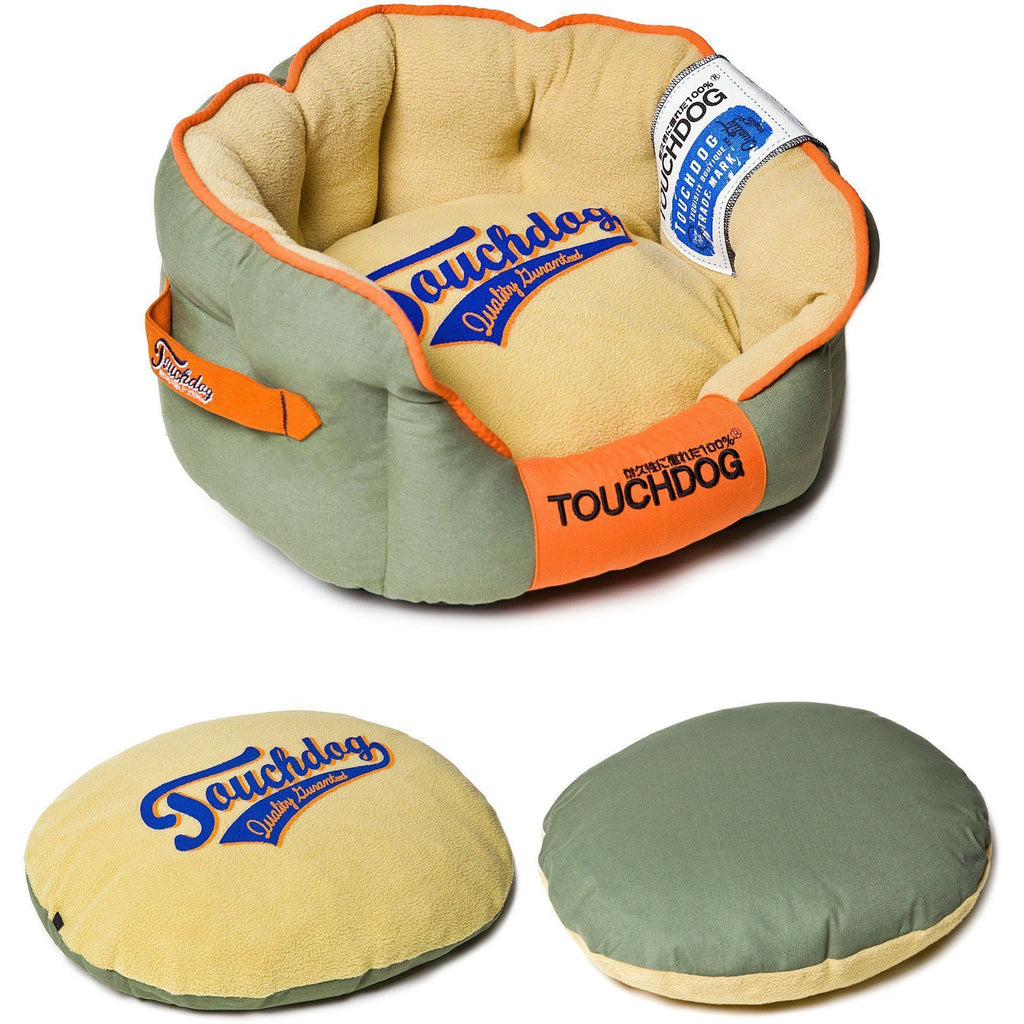Touchdog ® 'Castle-Bark' Original Ultimate Rounded Retro-Faded Premium Designer Fashion Pet Dog Bed