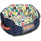 Touchdog ® 'Chirpin-Avery' Rounded Premium Fashion Designer Pet Dog Bed Medium Navy Blue, Butterfly Pattern
