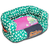 Touchdog ® 'Lazy-Bones' Rabbit-Spotted Premium Easy Wash Fashion Designer Couch Pet Dog Bed Lounge Medium Teal, Pink