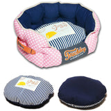 Touchdog ® 'Polka-Striped' Polo Rounded Fashion Designer Pet Dog Bed Lounge