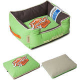 Touchdog ® 'Sporty Vintage' Original Throwback Reversible Plush Rectangular Pet Dog Bed