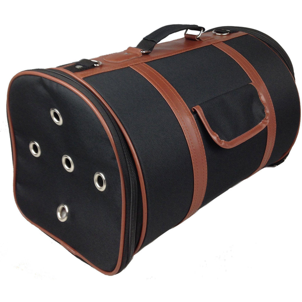 Pet Life ® 'Bark Avenue' Cylindrical Airline Approved Fashion Designer Posh Pet Dog Carrier