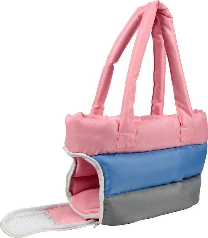 Pet Life ® 'Bubble-Poly' Tri-Colored Winter Insulated Fashion Designer Pet Dog Carrier