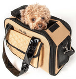 Pet Life ® Mystique Airline Approved Fashion Designer Travel Pet Dog Carrier w/ Pouch