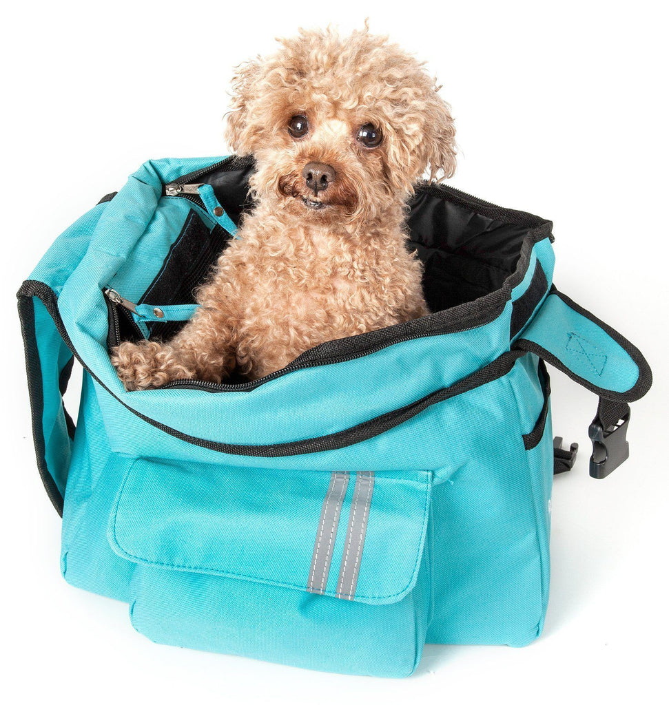 Pet Life ® Over-The-Shoulder Back-Supportive Fashion Sporty Pet Dog Carrier w/ Pouch