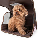 Pet Life ® Paw Patterned Airline Approved Zippered Folding Collapsible Travel Pet Dog Carrier