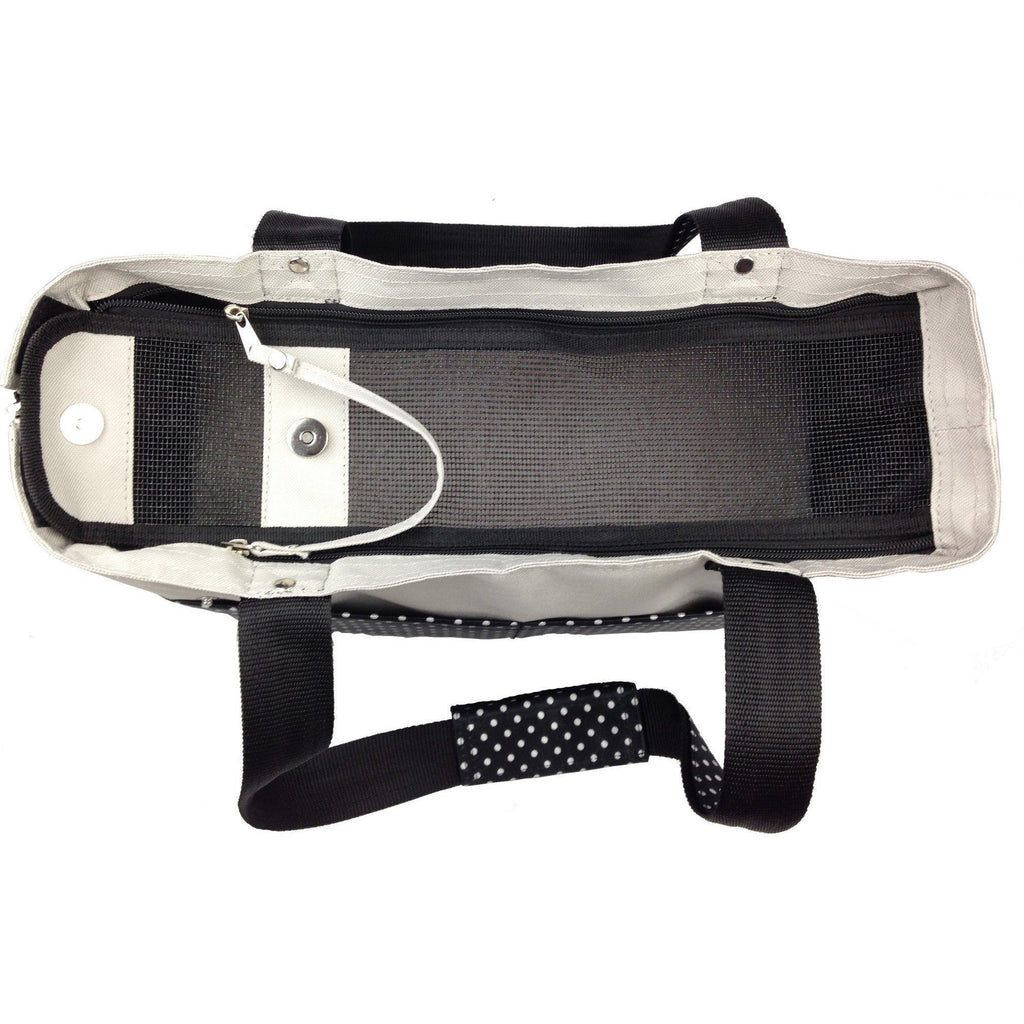 Pet Life ® 'Tote n' Boater' Trendy Spotted Designer Fashion Travel Pet Dog Carrier