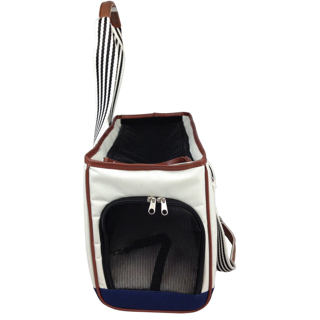 Pet Life ® 'Yacht Polo' Designer Travel Fashion Pet Dog Carrier w/ Pouch