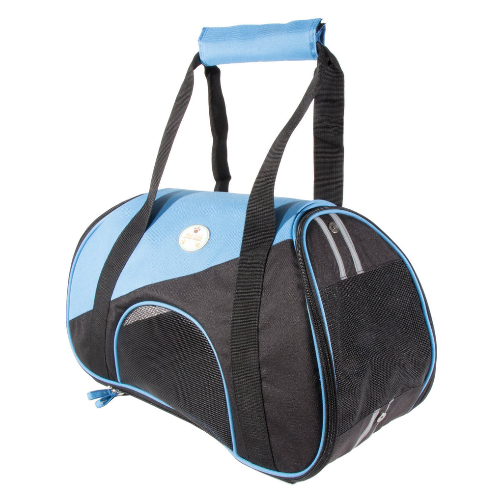 Pet Life ® 'Zip-N-Go' Airline Approved Contoured Fashion Designer Pet Dog Carrier