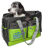 Touchdog ® 'Active-Purse' Water Resistant Designer Fashion Pet Dog Carrier Yellow Green, Black