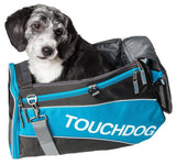 Touchdog ® 'Modern-Glide' Airline Approved Water-Resistant Sporty Travel Fashion Pet Dog Carrier Electric Blue