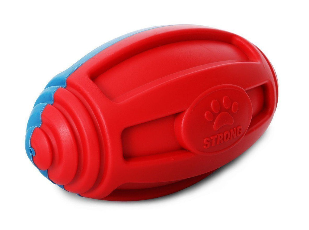 Pet Life ® 'Gridiron Football' Built-To-Last Chew and Fetch TPR Waterproof Floating Pet Dog Toy Default Title